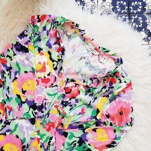 LIZ CLAIBORNE floral colorful top